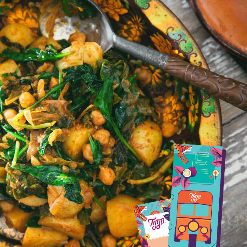 Chana Saag Aloo AND Pumpkin & Carrot Cumin Glaze